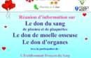 Info don du sang, de moëlle et d'organes